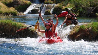 red-kayak-on-zrmanja-river-adventure-trip