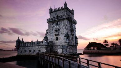 tower-at-dusk-in-lisbon-portugal