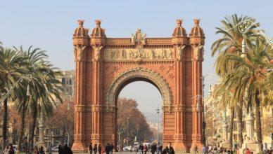 Street View Triumphal Arch Barcelona Spain