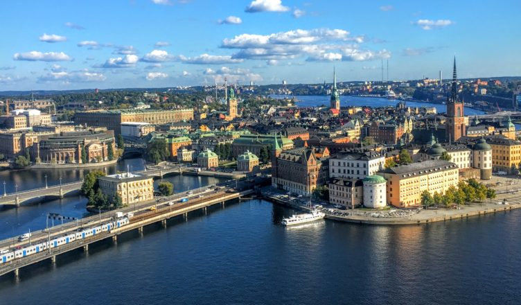 View from Stockholm City Hall, Stockholm, Sweden.