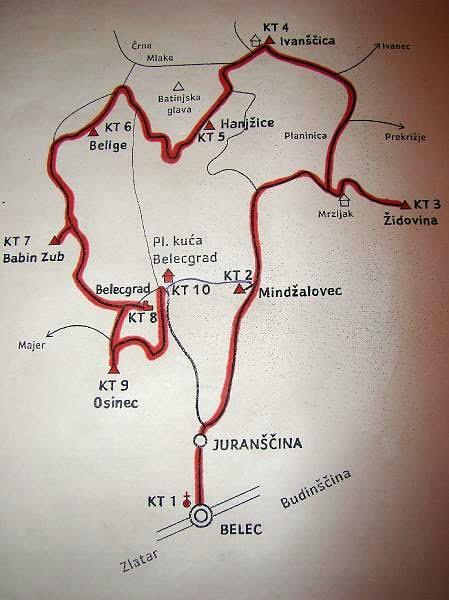 Ivanščica - karta